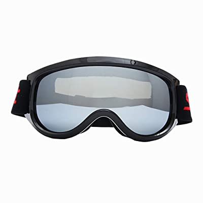 FEDULK Ski Goggles Snowboard Goggles Outdoor Sports Glasses with Windproof Sunglasses(Silver): Garden & Outdoor