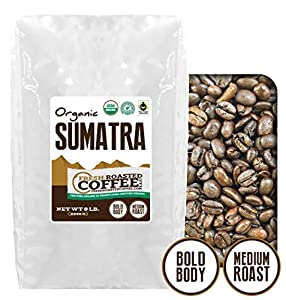 OFT Sumatra Coffee, Whole Bean, Fresh Roasted Coffee LLC