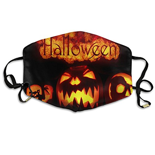 Girls Face Mask Anti-Dust Respirator Gift Fire Halloween Crazy Pumpkins Bat.jpg