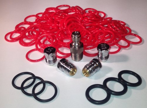 4500 Tank Kit (Fill Nipple, (2) 7.5k Burst Disk, (2) 1.8k Disk, 100 Tank Orings) by Captain O-Ring LLC
