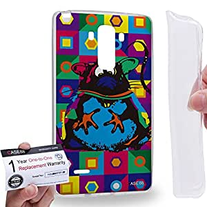 Case88 [LG G4 Stylus] Gel TPU Carcasa/Funda & Tarjeta de garantía - Art Drawing Mouse Kawaii Abstract Animals Art2568