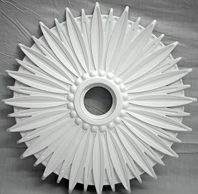 "28"" White Henta Daisy Ceiling Medallion DIY Paintable ABS Modern Light Fixture"