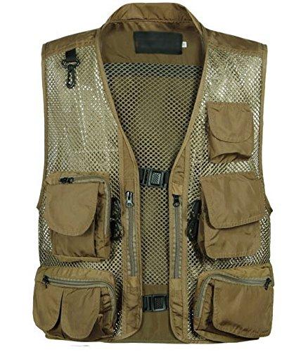 caccia estate traspirante pesca campeggio camouflage militare tattico denim maglia gilet multi-tasca fotografo gilet da uomo Coldstar