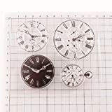 YULEKITO Different Classical Clocks Clear Stamps