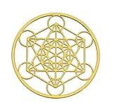 Astrogems Metatron's Cube 18K Gold Plated Sacred...