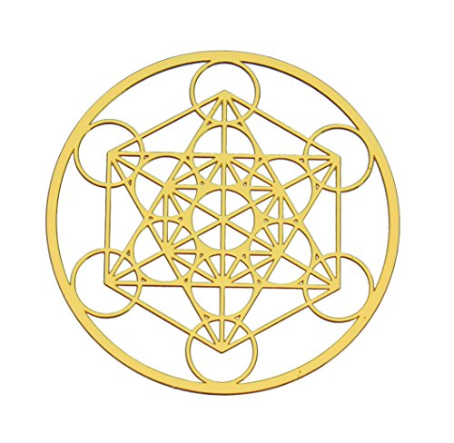 Astrogems Metatron's Cube 18K Gold Plated Sacred Geometry 4