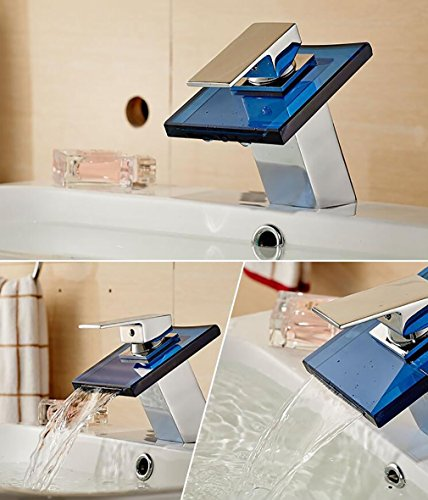 Fen Bathroom Taps,Glass Waterfall Faucet,Creative Hot And Cold Washbasin Square Basin Mixer,Luxury Hotel Tap by Fen (Image #2)