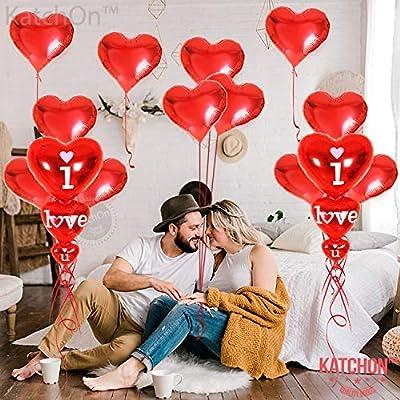Paquete De 50 Globos en Forma de Corazón para Cumpleaños//Boda Fiesta /& Decoraciones Amor//Romántico