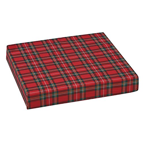 Duro-Med Foam Seat Cushion for Your Wheelchair, Firm for Support and Comfort, Car or Chair, with Cover, Plaid, 3 x 16 x 18 Inches