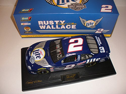 - Rusty Wallace Miller Lite Harley-Davidson #2 1999 Taurus W/ Stand NASCAR Action Racing Collectibles 1:18 Die-Cast Stock Car Limited Run