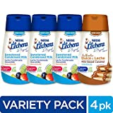 La Lechera Squeeze Variety Pack (4 Count) - Three Sweetened Condensed Milk and One Dulce de Leche in Resealable, No-Spill Bottles - Add Rich, Creamy Texture to Sweet Dishes Larger Image