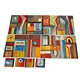 NOVICA Wood placemats and coasters, Set of 4, Images of Life