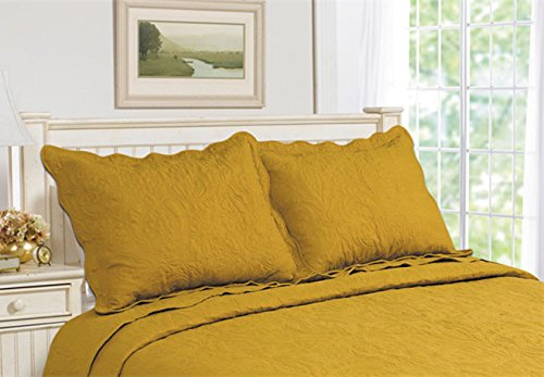 All For You 2-Piece Embroidered Pillow Shams-King size-white color (king, white)-(20X 36+2 flange) 513-W-36