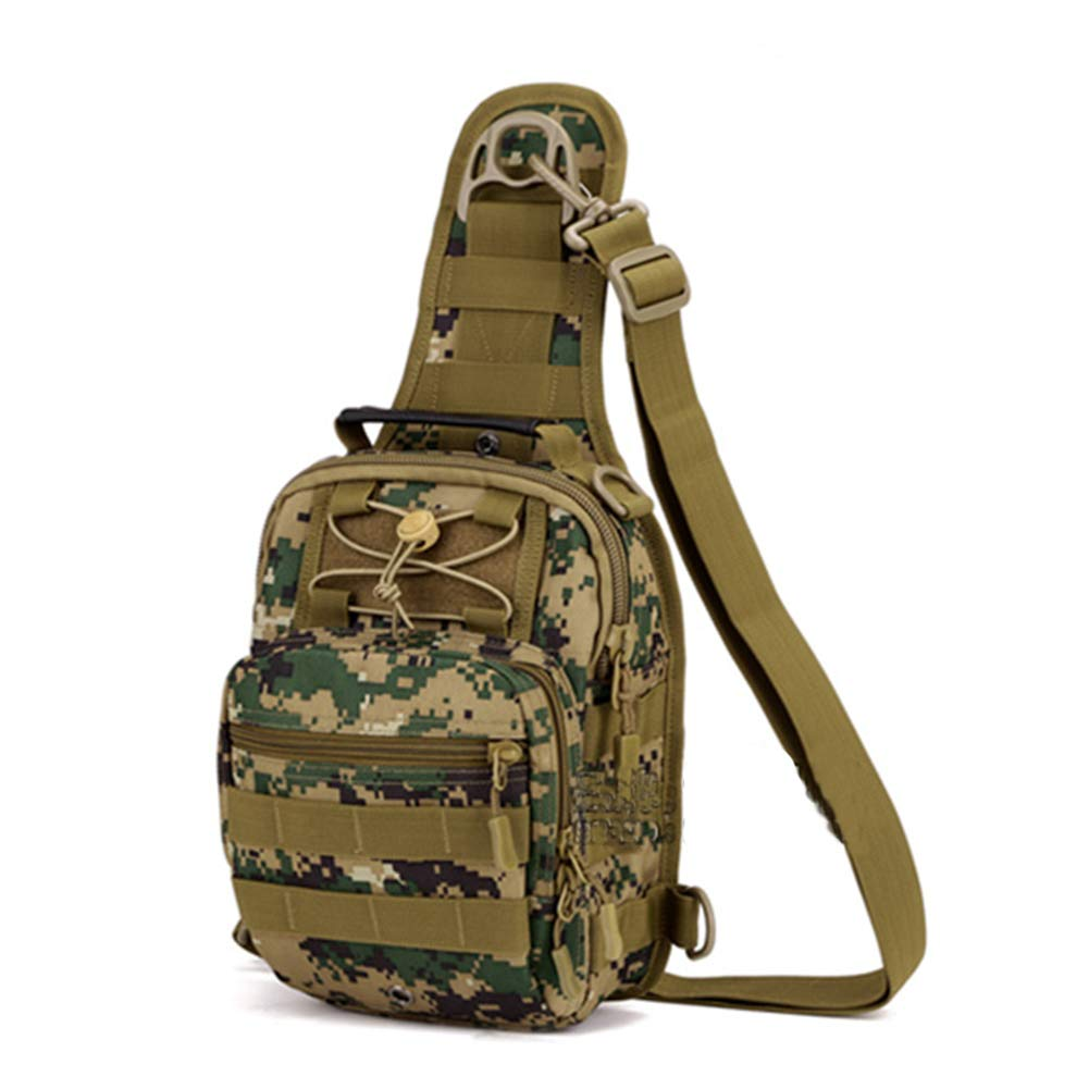 D Military Tactical Messenger Bag Canvas Shoulder Bag Sling Daypack Chest Pack Travel Crossbody for Hunting and Traveling