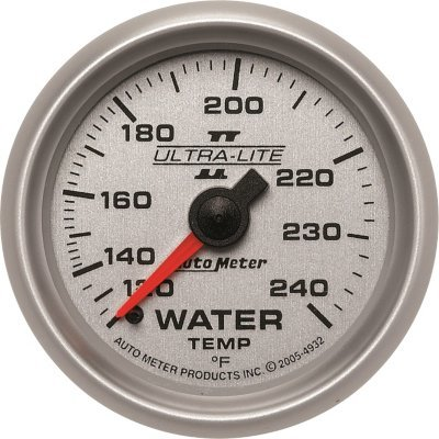 A48493224095-4932 - Autometer 4932 Water Temperature Gauge - Mechanical, Universal (Metric Water Temperature Gauge)