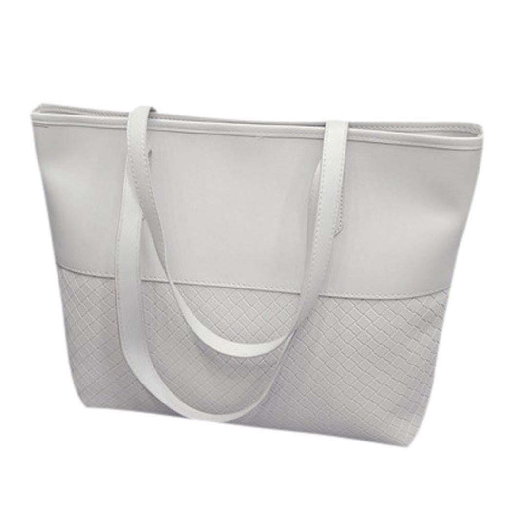 Bolayu Fashion Women Handbag Shoulder Tote Satchel Large Messenger Bag Purse Sexy Girl Handbag Fashion Casual Bag (White)