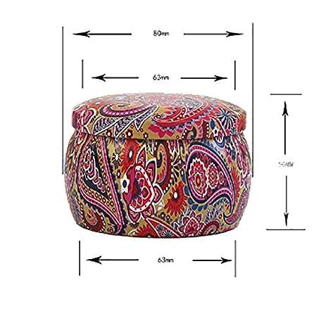 Demarkt S/ü/ßigkeiten Kasten Metall Aufbewahrungsbox S/ü/ße Blumen Muster f/ür Schokolade S/ü/ßigkeiten Tee Lagerung Metalldose