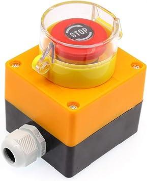 LA125 Impermeable 10A 1NO 1NC Ascensor Parada de Emergencia Interruptor de Pulsador Caja Eléctrico Autobloqueante Interruptores de Seguridad: Amazon.es: Bricolaje y herramientas