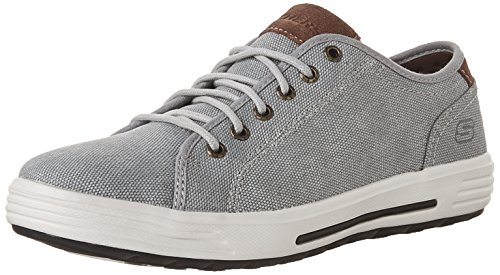 Skechers Mens Navy 'Porter Mento' Lace Up Trainers, Grey, 6 AU