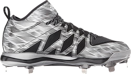 adidas Men's Dual Threat Baseball Black/Silver/White smSLg89I