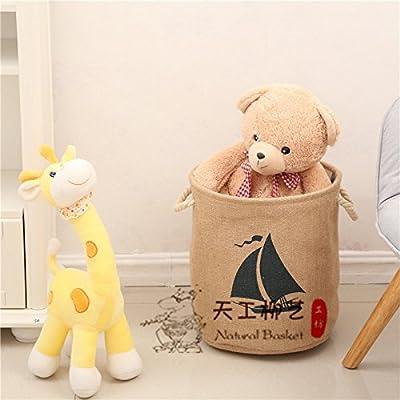 Cupwenh Admitting un panier à linge Basket-ins jouet Tissus Coton, Lin et Admettre le Panier à linge Panier