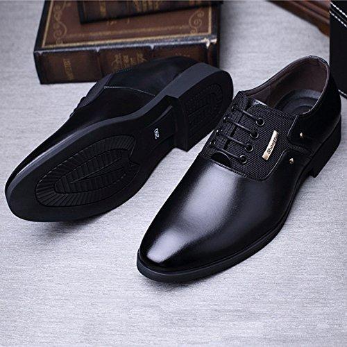 possibilit uomo on interna e Opaco da Xiaojuan Matte da Scarpe Splice pelle Fodera Slip traspirante lavoro shoes in tela qwU6X