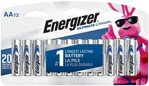 Energizer L91SBP-12  AA Lithium Batteries, World's Longest Lasting Double A Battery, Ultimate Lithium (12 Battery Count) - Packaging May Vary