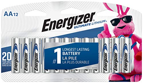 Energizer AA Lithium Batteries, World's Longest Lasting Double A Battery, Ultimate Lithium (12 Battery Count) - Packaging May Vary (The Best Battery Pack)