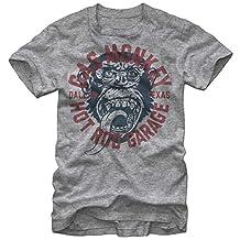Gas Monkey Garage Business Logo Vintage Style T-Shirt - Heather Grey