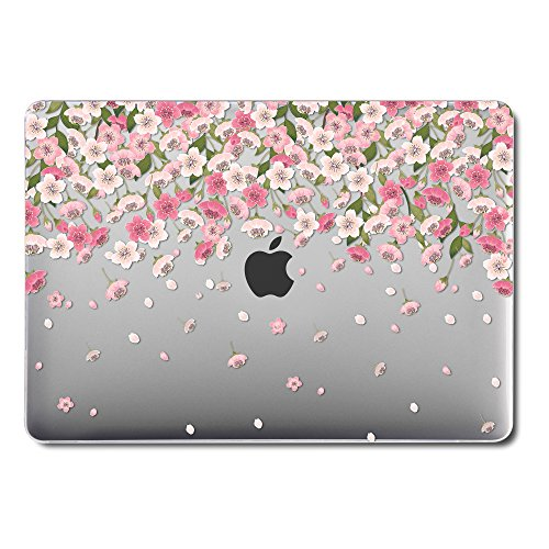GMYLE MacBook Latest Pro Touch Bar 13 Inch A1989/A1706/A1708 (2016,2017,2018 Release) Case, GMYLE Hard See Through Clear Scratch Guard Cover Apple Mac Pro 13 - Pink Cherry Blossom Flowers