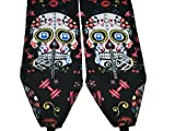 Mogul Fitness Strength Wrist Wraps Cross Training, fit Olympic Lifts, Weight Lifting Straps, Strength Training, Powerlifting (Sugar Skull Limited Edition)
