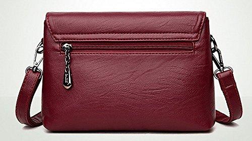Rosso Borse Shopping Borse CCALBP180842 ornato a Donna Luccichio Casuale VogueZone009 tracolla Y5vxAwIA