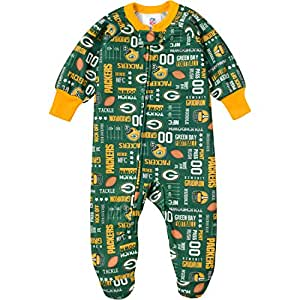 NFL Green Bay Packers Allover Print Blanket Sleeper, 3T, Green/Yellow
