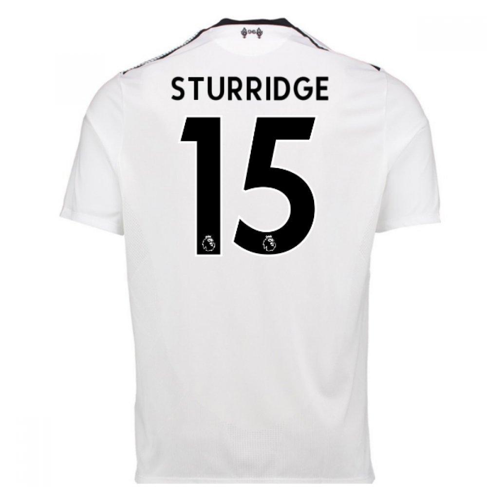 2017-18 Liverpool Away Shirt (Sturridge 15) B077YPVV6KWhite Medium 38-40\