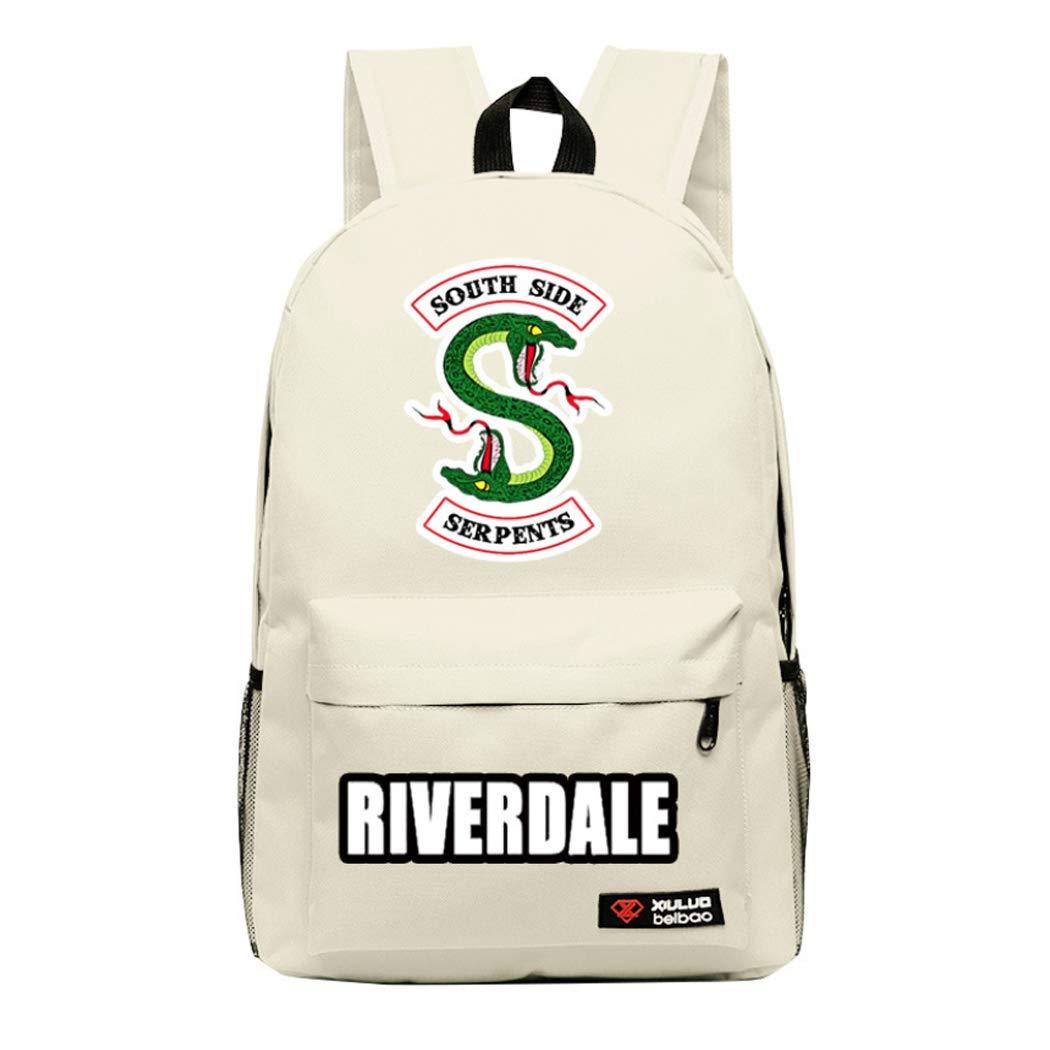 APHT Unisex Riverdale Riverdale Southside Serpents Printed School Rucksack Casual Student Packsack Teenager Bags