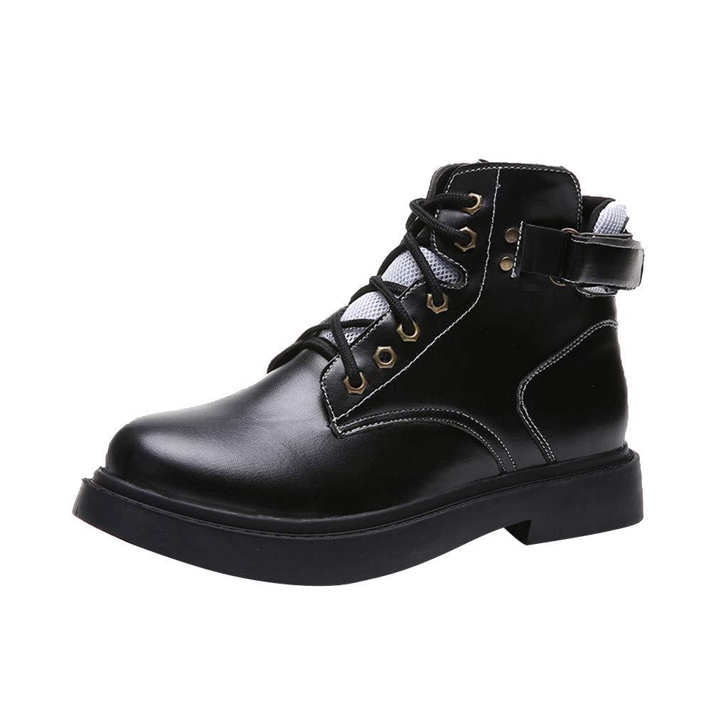❤ Botas de la Vendimia de Las Mujeres, británicos clásicos de la Vendimia Zapatos de la Motocicleta Thick Heel Tobillo Boots Mujer Botas de Invierno a ...
