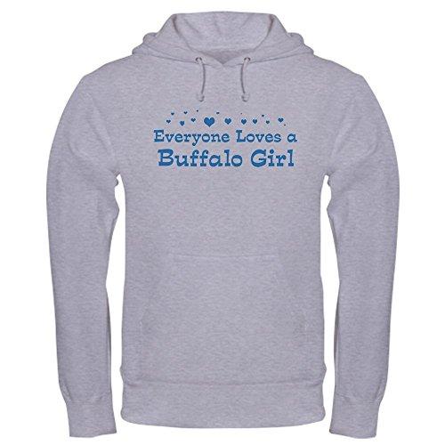 - CafePress Loves Buffalo Girl - Pullover Hoodie, Classic & Comfortable Hooded Sweatshirt