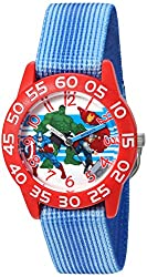Marvel Boy's 'Captain America' Quartz Plastic and Nylon  Watch, Color:Blue (Model: W003237)