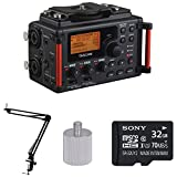 Tascam DR-60DmkII Portable Digital Recorder w Knox Boom Arm Stand & 32 Gig Micro SD Card