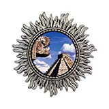 GiftJewelryShop Ancient Style Silver Plate Travel Chichen Itza Mexico Sun Shape Pins Brooch