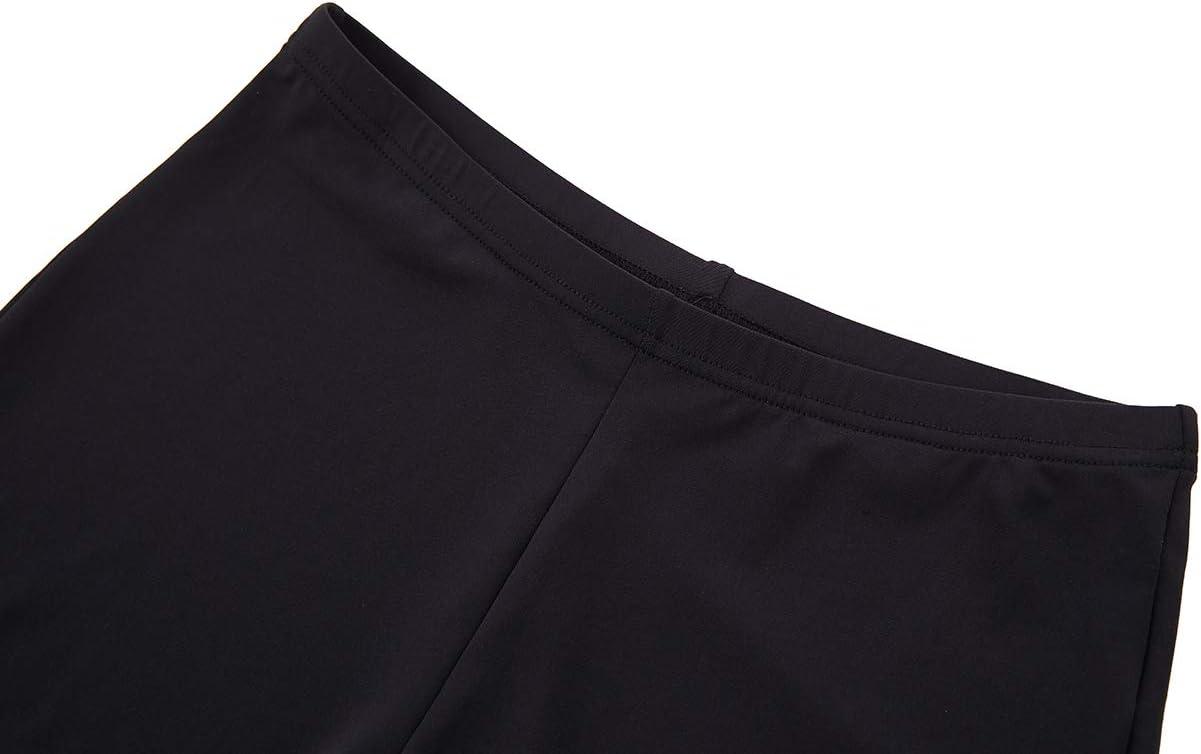H.MILES Damen Kompressions-Shorts Laufen Yoga Workout Legging Schwarz