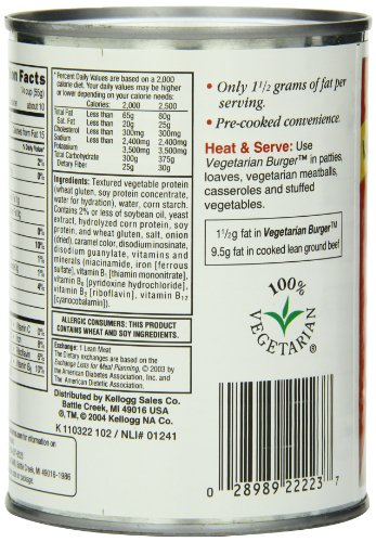 Amazon Com Worthington Vegetarian Burger Low Fat 20 Ounce Cans Pack Of 12 Vegetarian Meat Substitutes Grocery Gourmet Food