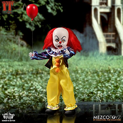 Scary Dead Person Halloween Costumes - Mezco Living Dead Dolls Pennywise Collectible