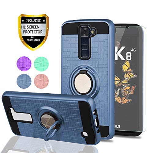 LG Phoenix 2 Case, LG Escape 3 Phone Cases with HD Phone Screen Protector,YmhxcY 360 Degree Rotating - http://coolthings.us