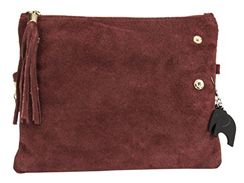 Real Party Ice Z LiaTalia Wristlet Wedding Clutch Italian Clearance Womens Purse Suede Grey Leather Evening Bag Ruth ZfRWnx5Rp4
