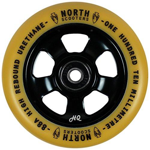 北スクーターHQ Gum 88 Aスクーターホイールブラック110 mmシングルホイール