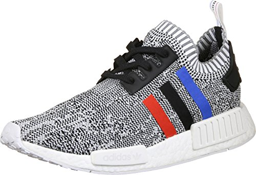 Shoes Running 750 (adidas Originals NMD_R1 Pk Mens Running Trainers Sneakers Shoes Prime Knit (UK 4.5 US 5 EU 37 1/3, Ftwwht, Corred and Cblack Bb2888))