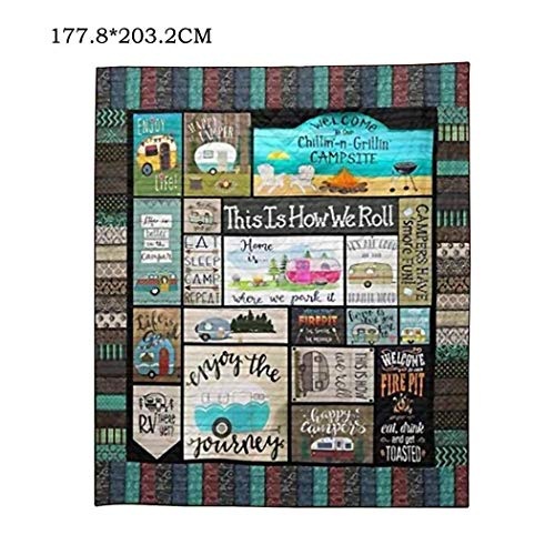 Meflying Outdoor Camping Picnic Roll Quilt Blanket Home Decorative Quilts for Gifts Quilt Sets from Meflying