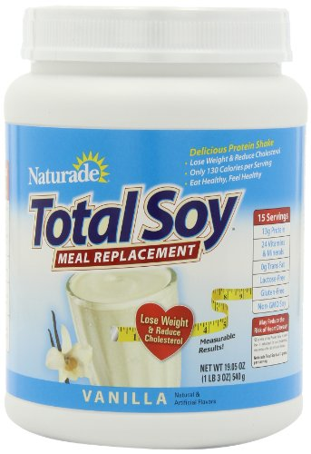 Naturade Total Soy Vanilla Meal Replacement Supplement, Vanilla, 19.1 Ounce