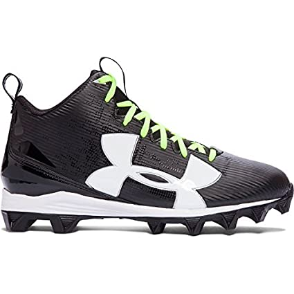 black and white under armour cleats